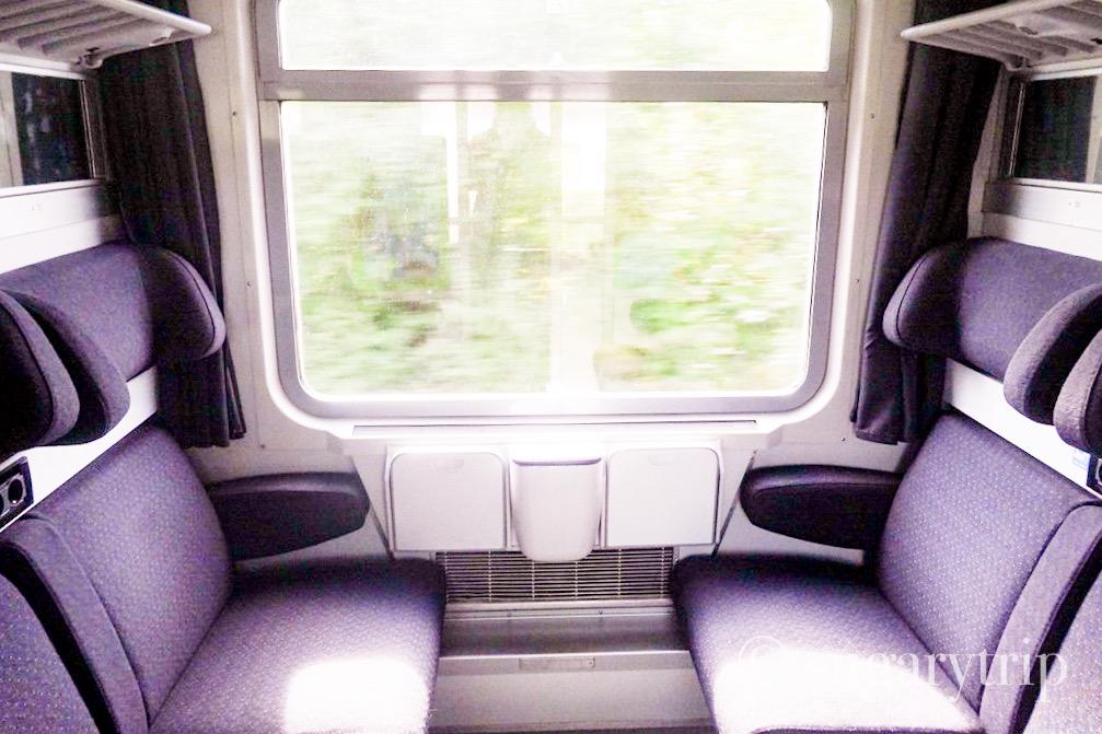 チェコ鉄道座席